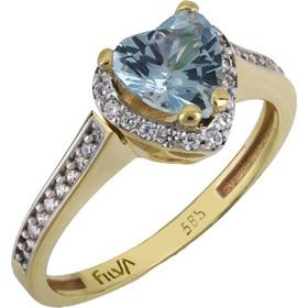Χρυσό δαχτυλίδι καρδιά swarovski Κ14 με ορυκτές πέτρες 025768 025768 Χρυσός  14 Καράτια 58a260f609e