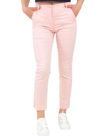 b250dc8c8a0e Γυναικείο ροζ υφασμάτινο παντελόνι σωληνας So Sexy 41228