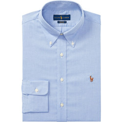 bd9b80a725f1 Polo Ralph Lauren ανδρικό πουκάμισο μαύρο Classic Fit Oxford - 712675619004  - Ανοιχτό Γαλάζιο