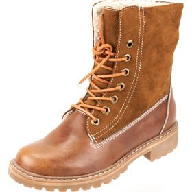 Δερμάτινα Ορειβατικά Μποτάκια με Επένδυση Γούνας Envie Shoes κωδ. v35-08134  Camel 95c47866246