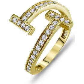 Δαχτυλίδι Mε Πέτρες Από Κίτρινο Χρυσό K14 DX00800 725e8a2e85f