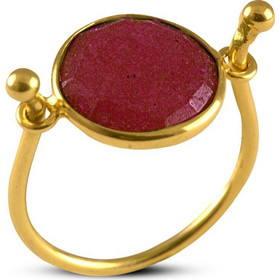 Δαχτυλίδι από επιχρυσωμένο ασήμι 925 με γνήσιο ρουμπίνι 32c3263b45d