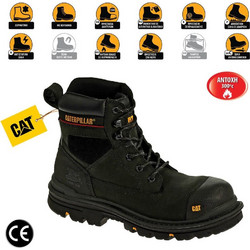 b44a037f990 Παπούτσια Μποτάκια Ασφαλείας - Εργασίας Μαύρα Caterpillar Gravel S3-HRO-SRC