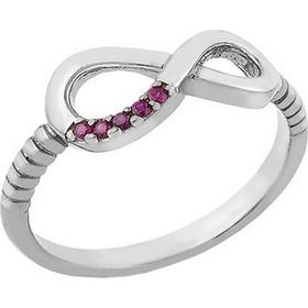 Δαχτυλίδι από ασήμι με το άπειρο με πέτρες ζιργκόν 99a72fcd626