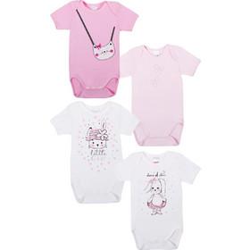 d316fba8124 Φανελάκια βρεφικά κοριτσιών Little girl Minerva 4 τεμάχια (30451) Λευκό-ροζ  5206821457398