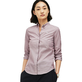 95c05e8a4baa Γυναικείο πουκάμισο με κουμπιά mother of pearl Lacoste - CF7900 - Ροζ