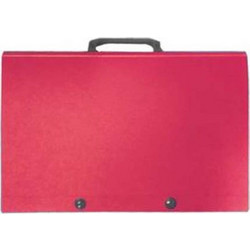 04e48a1609 Χαρτοφύλακας PP κουμπί χερούλι 27x38x4cm κόκκινη