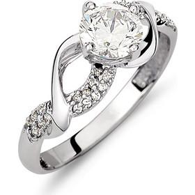 Μονόπετρο Σειρέ Πλεκτό Δαχτυλίδι Λευκόχρυσο Με Ζιργκόν - 002616 c1a0d7230fc