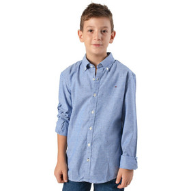 32d096b74ae Tommy Jeans Print Oxford Shirt - Παιδικό Πουκάμισο KB0KB04292-401