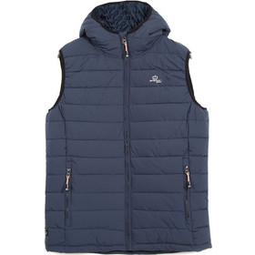 383c47fe43cc Emerson Hooded Fake Down Quilted Vest Jacket 182.EM10.231-Navy Blue