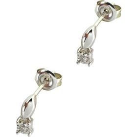 Σκουλαρίκια λευκόχρυσα 18 καράτια με διαμάντια 0.05ct ec4ae4f6583