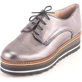 53597c61f22 Γυναικεία Δερμάτινα Παπούτσια τύπου Oxford. Σχέδιο K400 Ατσάλι