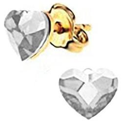 Σκουλαρίκια Συλλογή Love Καρδιά Από Επιχρυσωμένο Ασήμι Με Πέτρες Swarovski fb64b84360a