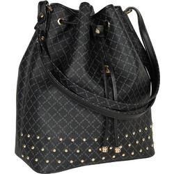 3e178e6efe Τσάντα Ώμου Πουγκί Με Τρουκς La Tour Eiffel Logo-Δέρμα 10495 Μαύρη
