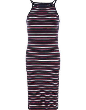 SUPERDRY D2 STRAPPY STRIPE MIDI DRESS ΦΟΡΕΜΑ ΓΥΝΑΙΚΕΙΟ G80011XQ-OG8 (OG8  PACIFIC MARINA 6de966d9884