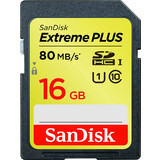 Sandisk 16GB SDHC Extreme Plus UHS-I 80MB Class 10