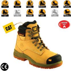 bfd492ad63b Παπούτσια Μποτάκια Ασφαλείας - Εργασίας Καφέ Μελί Caterpillar Spiro  S3-HRO-SRC