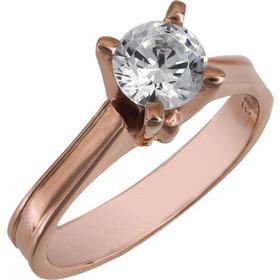 Μονόπετρο swarovski για πρόταση γάμου ροζ gold Κ14 025862 025862 Χρυσός 14  Καράτια bba8f8919bf