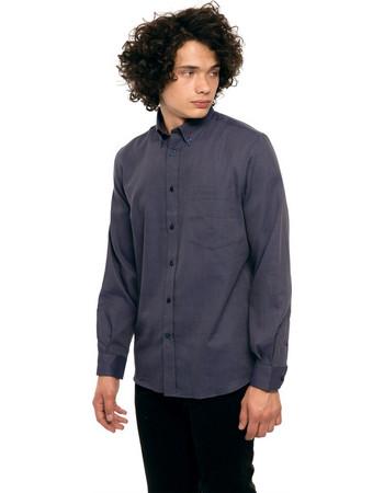 The Bostonians ανδρικό πουκάμισο με ανάγλυφη υφή - AAP1220 - Μπλε Σκούρο 47d37eb6a5a