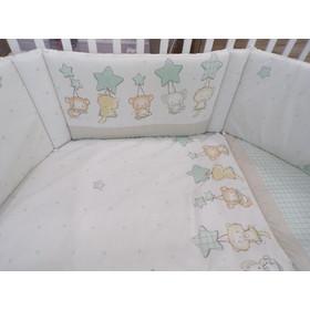 a4816caa574 Σετ προίκας μωρού 3 τεμ. για το κρεβατάκι Baby Star αστέρια μπεζ μέντα
