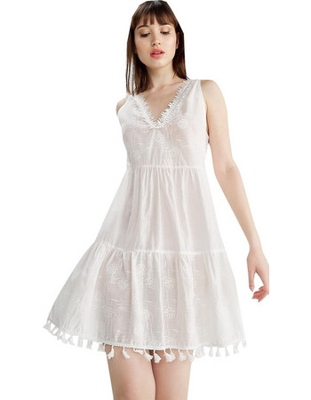 ANEL 55393 Φόρεμα Εκρού Anel 72753afc115
