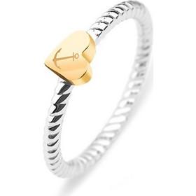 Γυναικείο δαχτυλίδι Paul Hewitt από ανοξείδωτο ατσάλι με καρδιά από  επιχρυσωμένο ανοξείδωτο ατσάλι e39ea34f7ec
