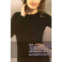 07d858d46653 Γυναικεία ισοθερμική μπλούζα μακρύ μανίκι 271 - ΜΑΥΡΟ