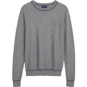 9ba6dc78d6a8 Gant ανδρικό πουλόβερ μονόχρωμο Microtexture - 8000093 - Μπλε Σκούρο