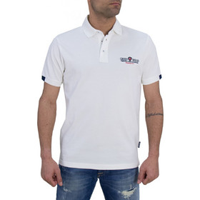 f3f04e99a62d Ανδρική πόλο μπλούζα Green Wood λευκή μονόχρωμη 101002281