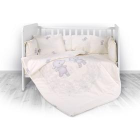 59200c47fd6 Σετ Προίκας Μωρού για Κούνια 4 τμχ. 60x120cm Lily Happy Hippo Beige Lorelli  20800143601