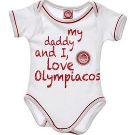 Κορμάκι Ολυμπιακός 50965011 - λευκό ΟΛΥΜΠΙΑΚΟΣ a0b129053c0