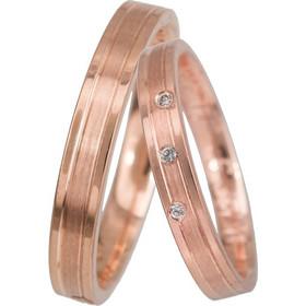 2a179c8f6ae5 Ροζ gold βέρες γάμου Κ14 024068 024068 Χρυσός 14 Καράτια μεμονωμένο τεμάχιο