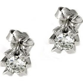 Λευκόχρυσα Μονόπετρα Σκουλαρίκια K18 με Διαμάντια Brilliant EO0206 5e8ce61df7e