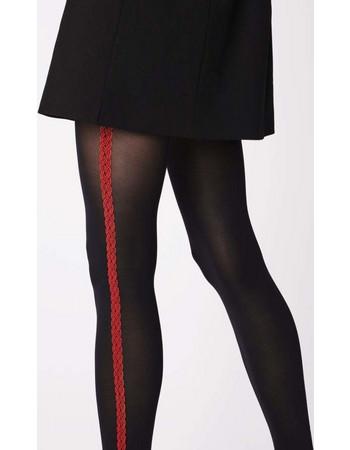 Γυναικείο καλσόν 40 den μαύρο με κόκκινο σχέδιο στο πλάι Fiore 1bdb525e010
