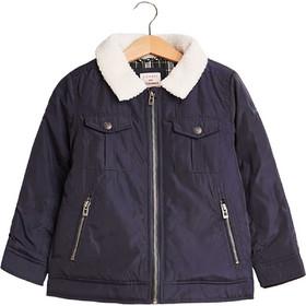 Esprit παιδικό μπουφάν με faux γούνα στο γιακά - RM4202407 - Μπλε Σκούρο a691534de27