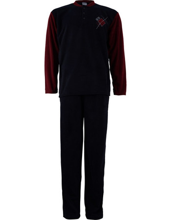 Αντρική πυζάμα fleece με κουμπιά.Comfortable style.New arrival. ΜΠΛΕ 877a6f661ca