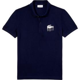 4036c99eb4bb Lacoste ανδρική μπλούζα Polo μονόχρωμη 3D Croc Slim Fit - PH6402 - Μπλε  Σκούρο