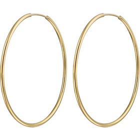 Jt Σκέτα σκουλαρίκια κρίκοι από επιχρυσωμένο ασήμι 4.2 cm e2e5a525d55