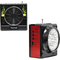 Φορητό USB/SD Mp3 Player Multimedia Speaker, FM Radio & Φακός LED KEMAI MD-607UK