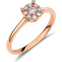 Δαχτυλίδι illusion από ροζ χρυσό 18 καρατίων με διαμάντια 0.22ct συνολικά.  KV20936 8c89f868db8