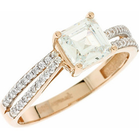 Δαχτυλίδι μονόπετρο ροζ χρυσό 14 καράτια με ζιργκόν 6 χιλιοστά 00c5d615d76
