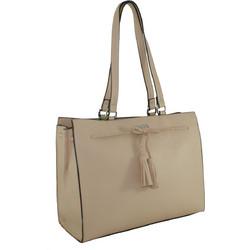 Γυναικεία τσάντα χεριού-ώμου Verde 16-0005075 σε μπεζ χρώμα 9f46d107552