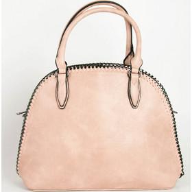 f75139c077 Γυναικεία ροζ τσάντα ώμου με πλεκτή αλυσίδα 533031R