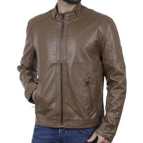 4b8a4ea3504 Ανδρικό Ανοιξιάτικο Μπουφάν Τεχνόδερμα Jacket SPLENDID 39-201-004 Καφέ