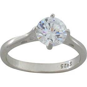 Δαχτυλίδι ασήμι 925 μονόπετρο με ζιργκόν 7 χιλιοστά be1c67255cb