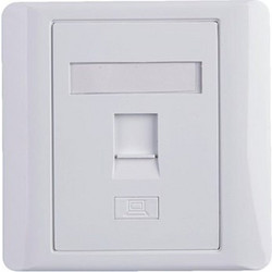 EuroLan LY-FP05 modular socket concealed, for 1 keystone, white