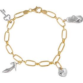 Βραχιόλι γυναικείο με αλυσίδα από χρυσό 14 καρατίων και κρεμαστά charms ( κλειδί 33d4f317324
