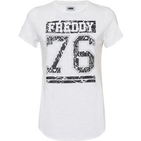 9ab15a9c8504 T-shirt 76 Freddy WT175L03N00V92 - λευκό