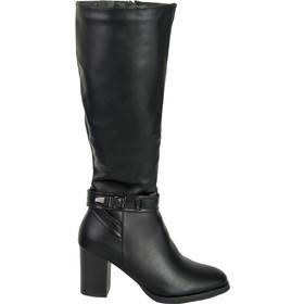 Γυναικείες μαύρες μπότες τόκα χοντρό τακούνι FR230G 439ebc6816c