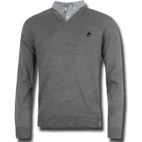 Pierre Cardin Ανδρικό Πουλόβερ Premium τύπου V σε Ανθρακί χρώμα με Μαύρο  λογότυπο - Pierre Cardin 30d0ff40219